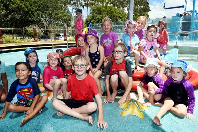 Bundaberg Multiple Births Association - Ten sets of twins and their families enjoyed a day at Wetside, Hervey Bay.