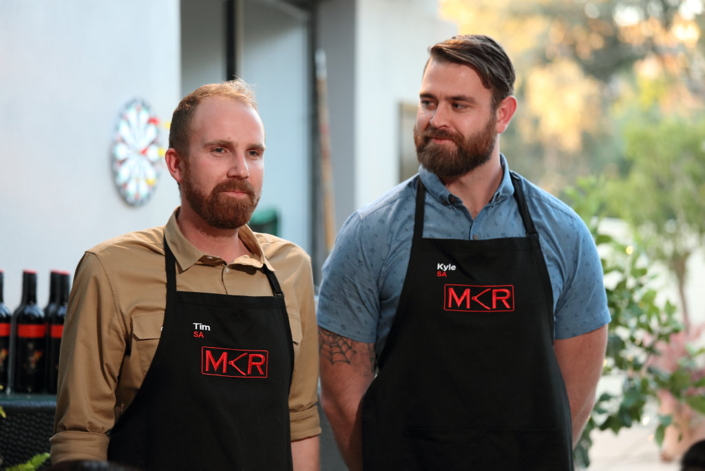 Tim and Kyle pictured during their instant restaurant in Adelaide.