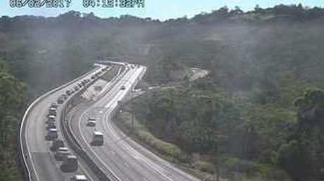 An oil spill is creating traffic chaos on the Toowoomba Range.