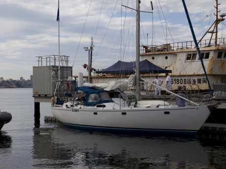 The yacht intercepted off the South Coast a few days ago.