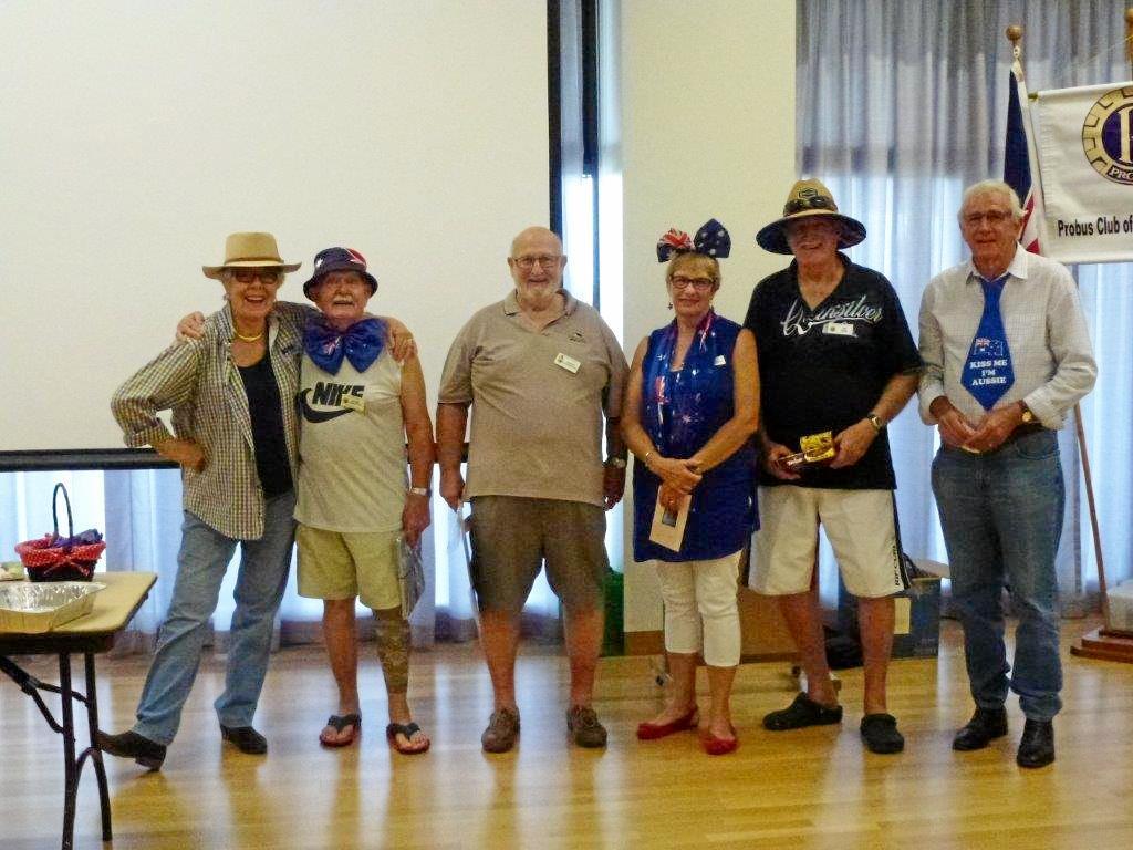 GOOD MATES: North Lakes Probus Club members celebrate Australia Day.
