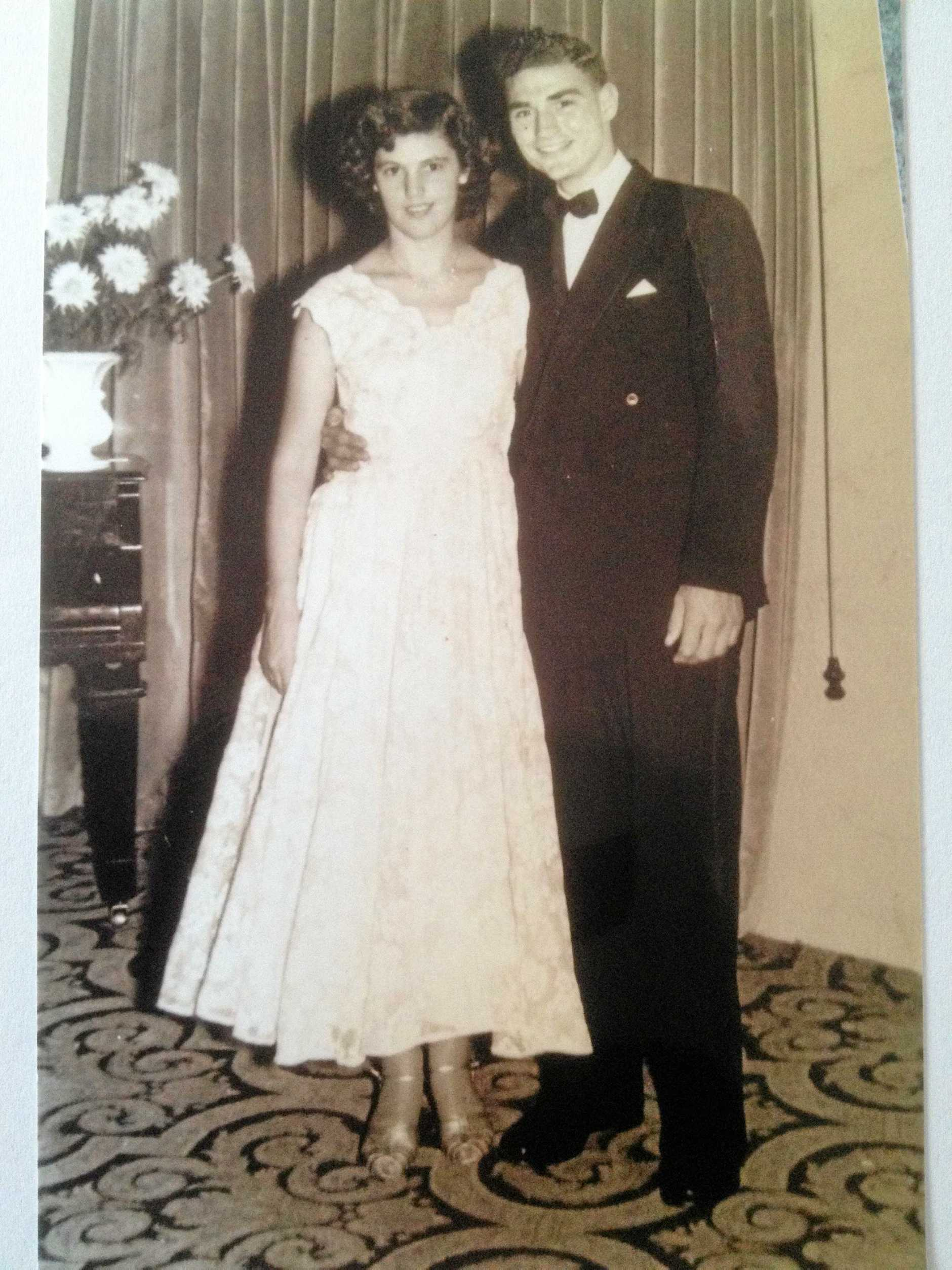 TRUE LOVE: Barbara and Dave Maynard in 1957, the year they were married.