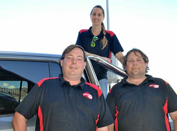 EXPANDING BUSINESS: The Red Wifi crew taking on the big telecommunication companies of Queensland.