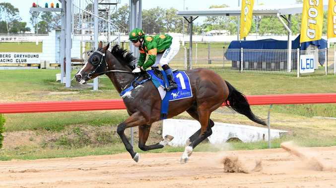 CLEAR WIN: Quayde Krogh guides Boxer to victory at The Waves Subs Club Beach Party race day at Thabeban Park.