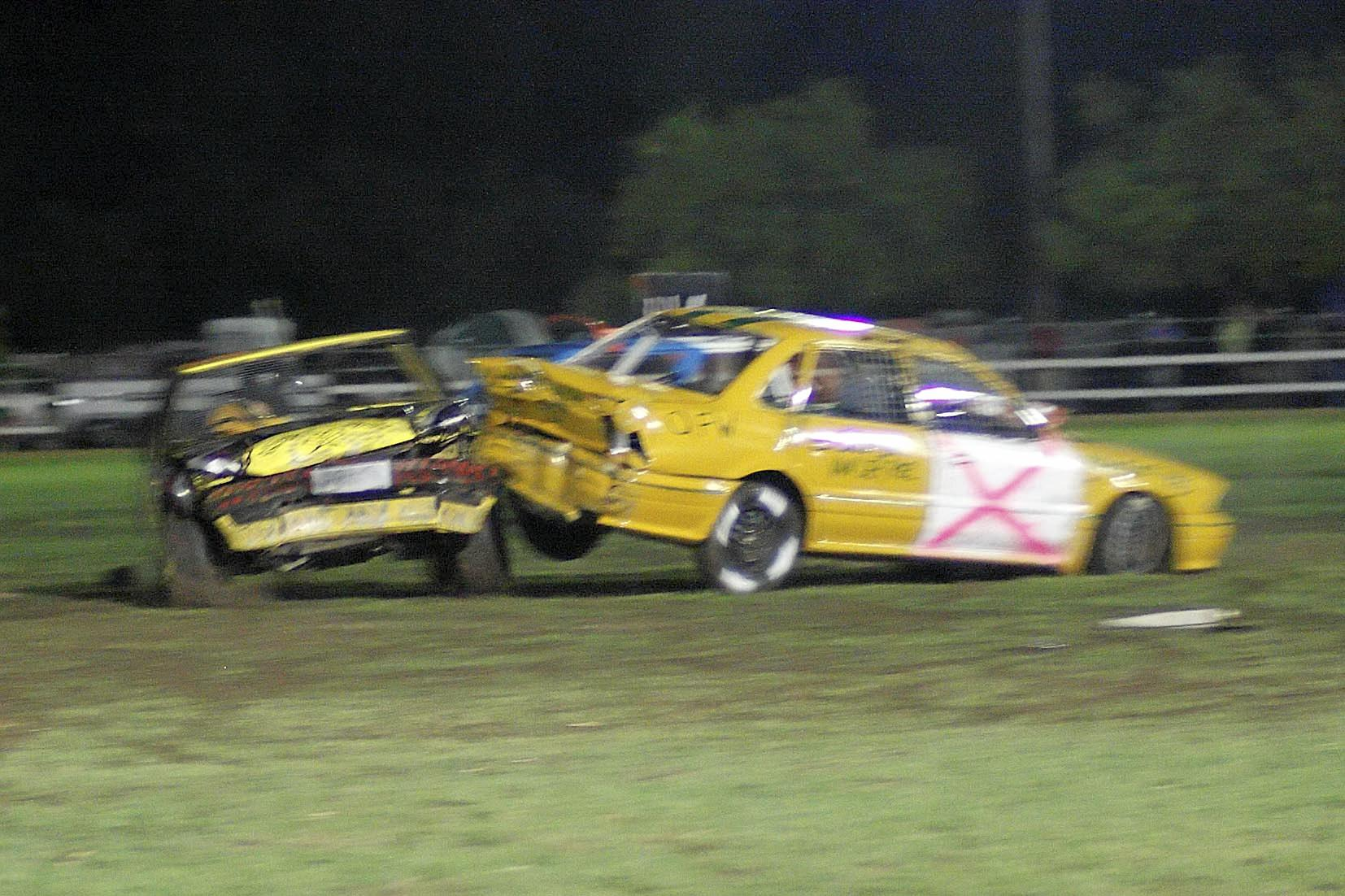 BANG, CRASH, WHALLOP: It will be high-octane, high-stakes action when the best demolition derby drivers from around the country descend on Trevan Ford Grafton Speedway this weekend.