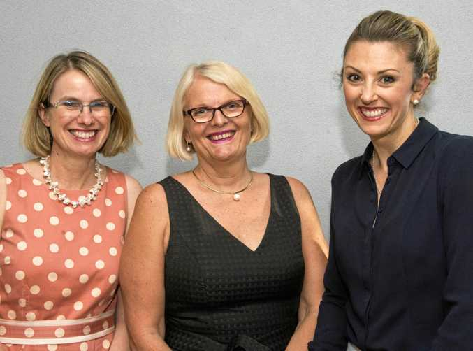 Enjoying the group's first regional event are (from left) Catherine Cheek, Penny Feil and Jamie Shine at the Women Lawyers Association of Queensland networking night.