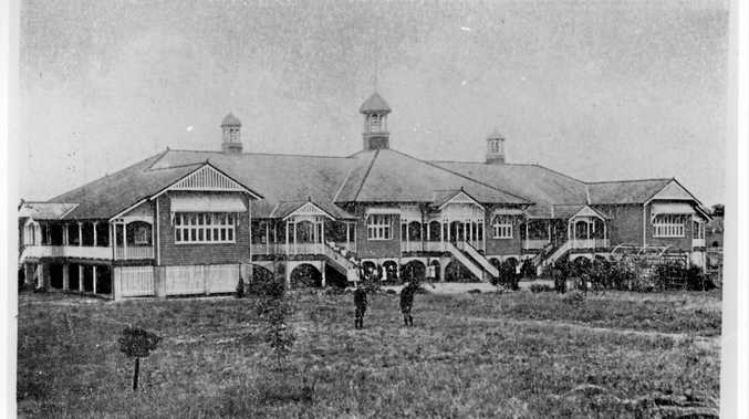 REMEMBER THE DAYS? The original Gympie State High School building in Cootharaba Rd in 1917.