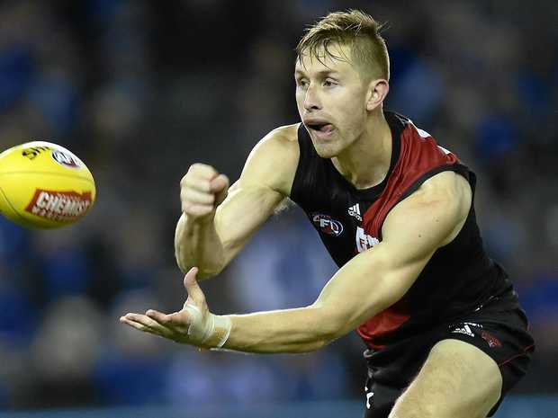 Essendon player Shaun McKernan is believed to be one of a number of Bombers who had his car stolen.