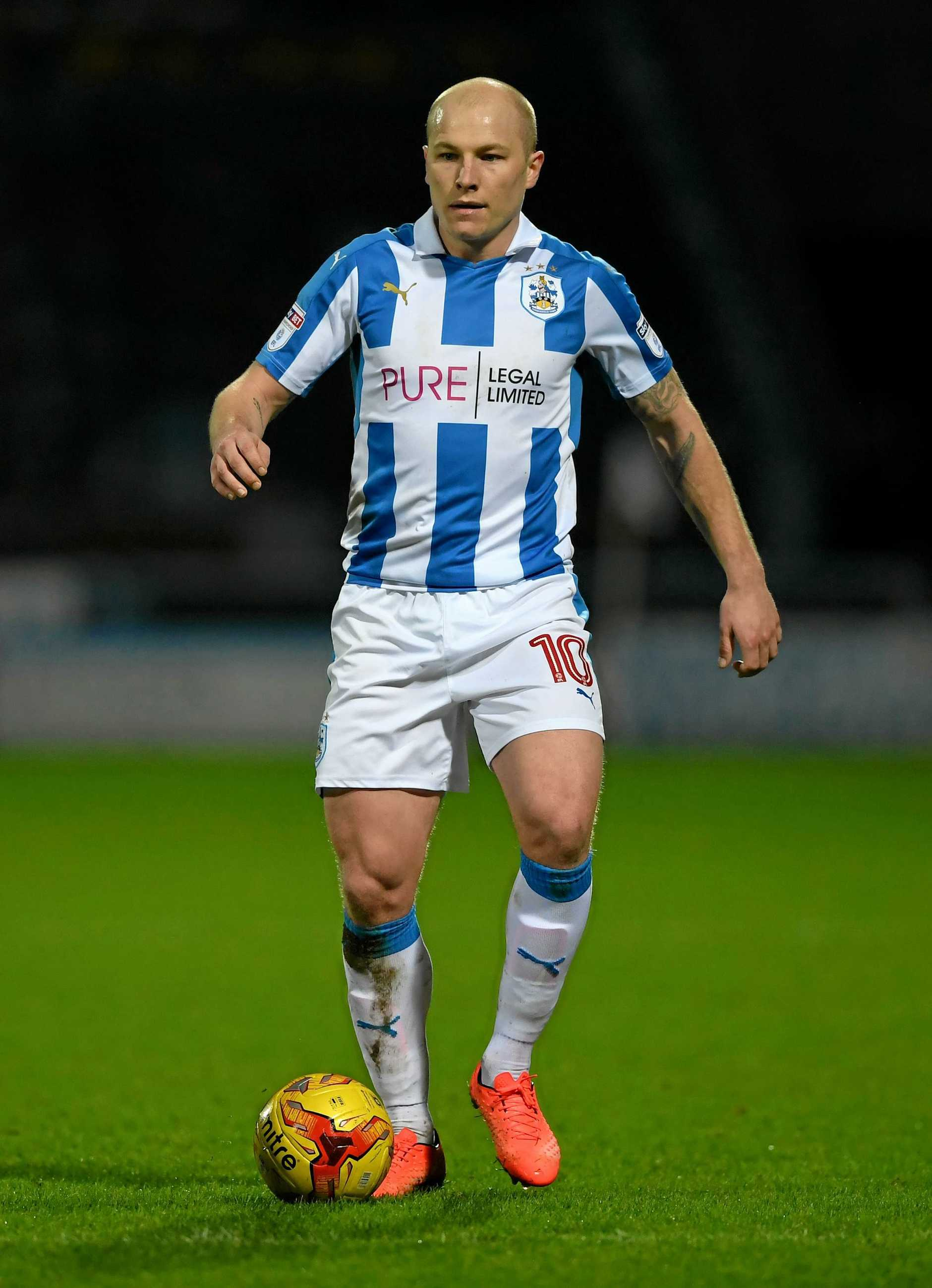Aaron Mooy helped Huddersfield defeat Yorkshire rival Leeds in the English Championship.