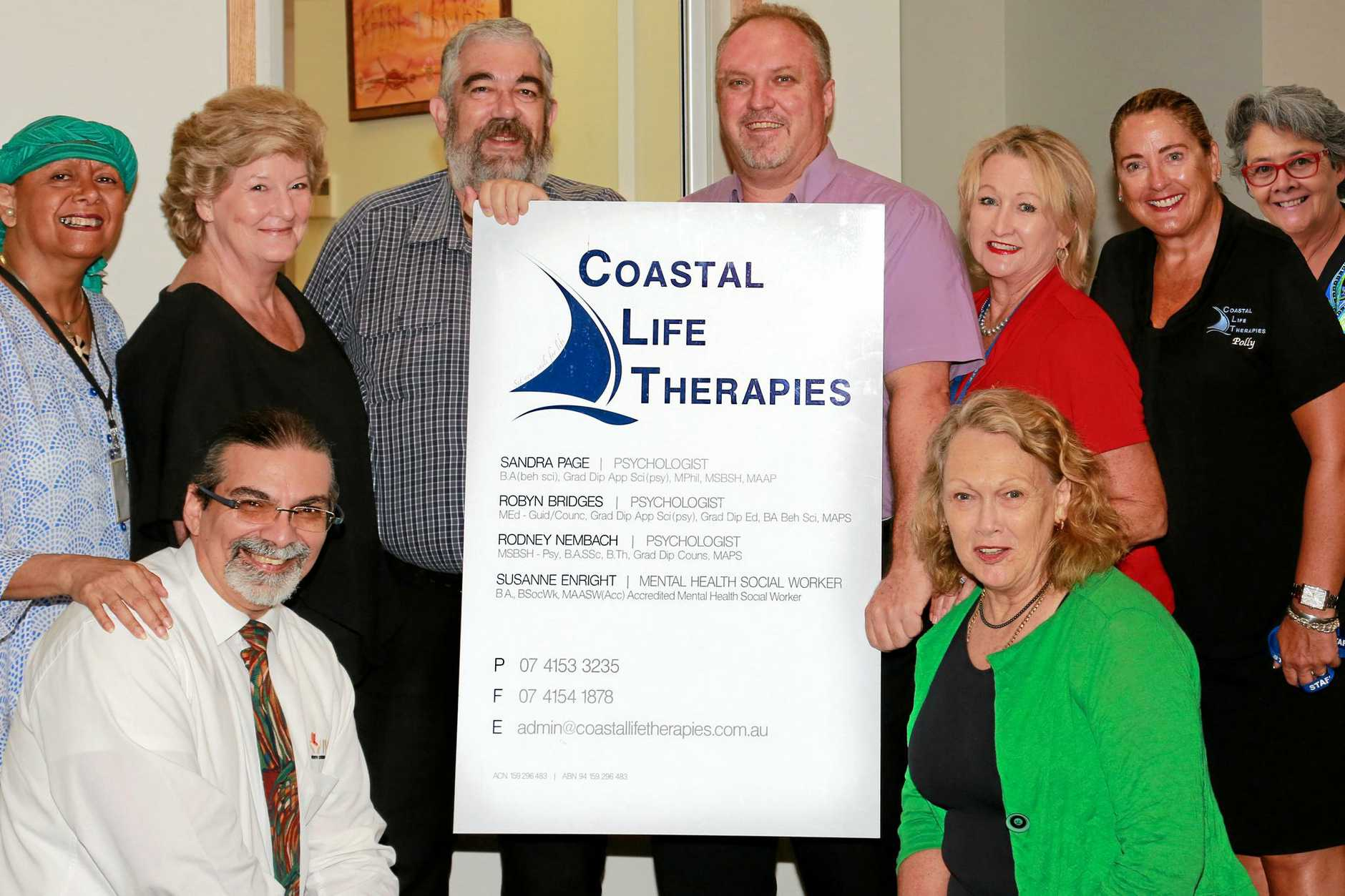 The Coastal Life Therapies team in their new premises at IWC Health & Wellbeing Centre.
