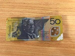 One of the counterfeit notes which was presented at businesses in Tara.