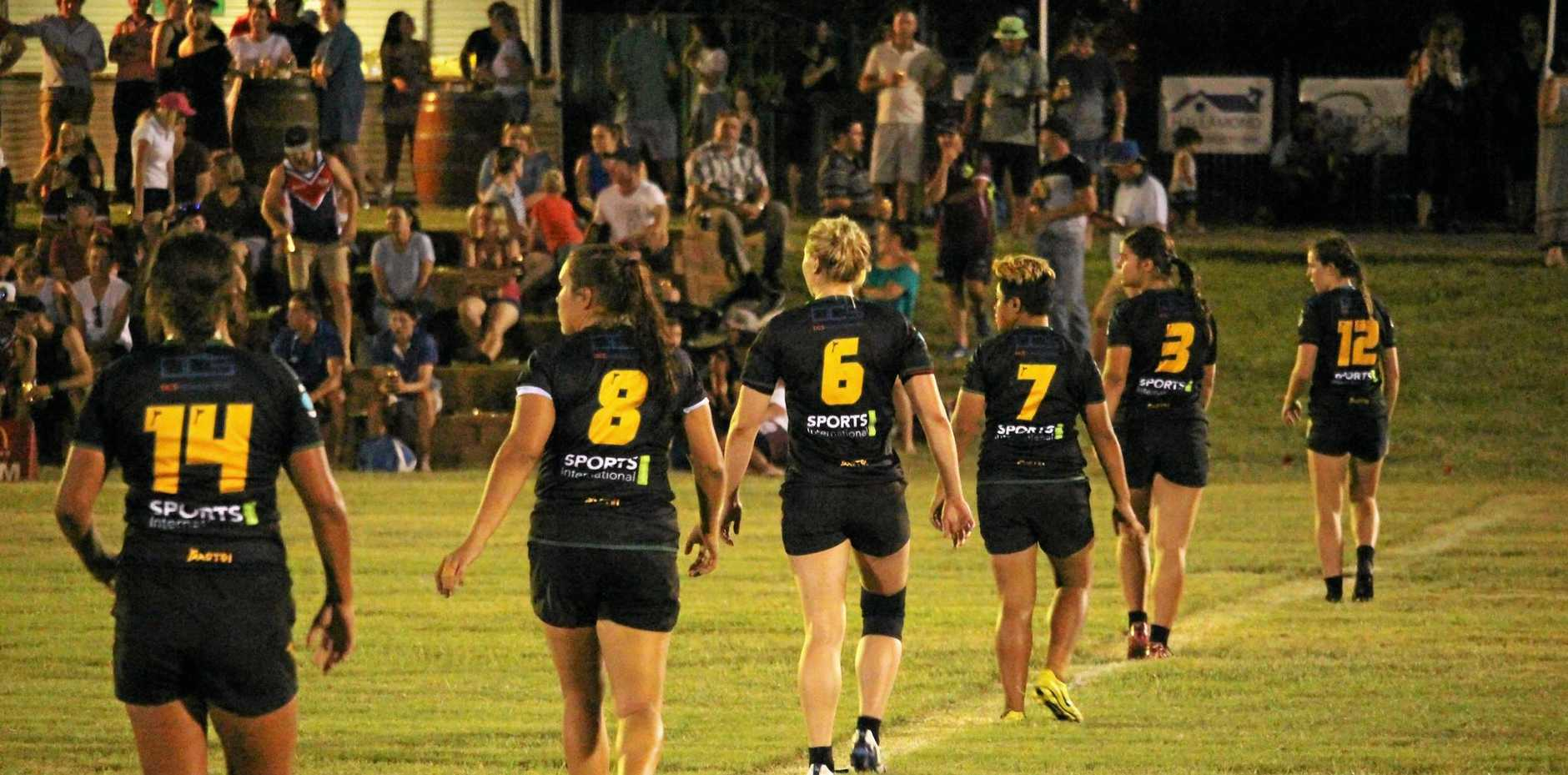 IMPOSING SIGHT: Tribe 7's physicality proved too strong against UQ in the grand final match on Saturday night.