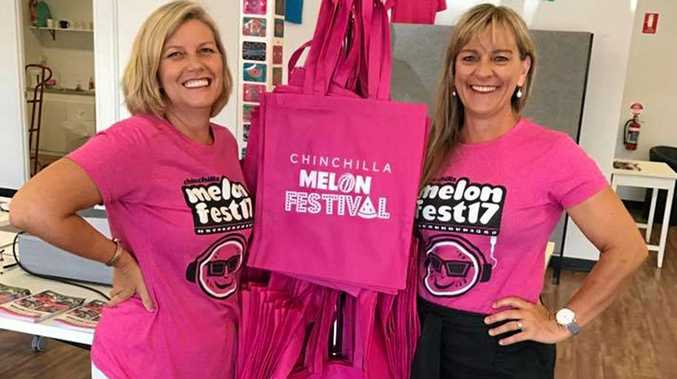 Jo Irwin and Angela Nothdurft at the Melon Shop, which opened this morning.