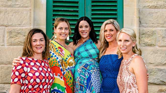 Chelsea Wyatt, Allyse Morris, Edwina McVeigh, Sarah Gibson and Steph Cherry at the Cocktails for a Cure event on the weekend.