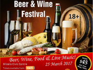 Rotary Club of Biloela proudly present our first Beer & Wine Festival featuring local foods, beer, wine, live music and auction.