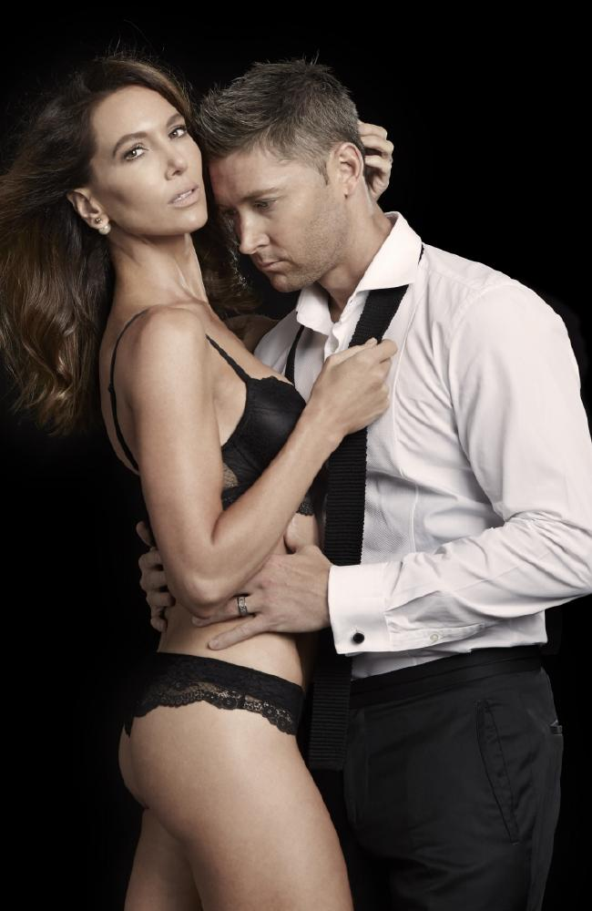 Kyly and Michael Clarke for Valentine's Day campaign for her Lyfestyled massage candles. Exclusive to News Corp