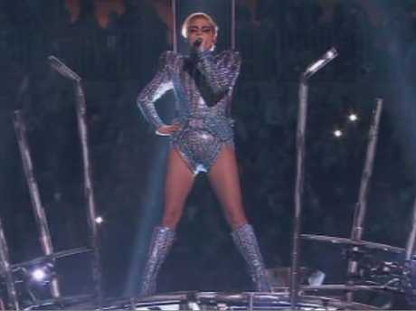 Lady Gaga delivered an energetic performance at the Superbowl.