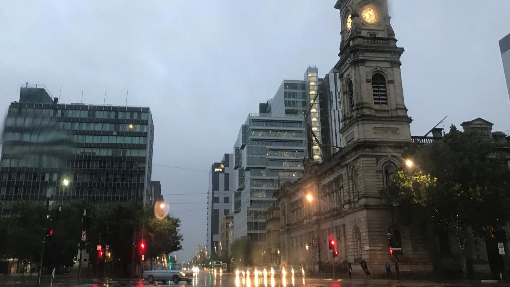 ADELAIDE has been drenched overnight with 28.2mm falling since 9am on Sunday, beating the entire average for February in just 24 hours.