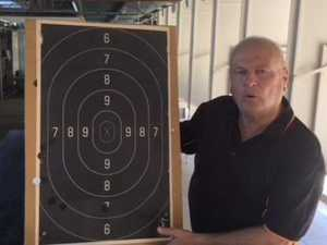Ross Dossetto prepares for Warwick Pistol Club February Open Shoot