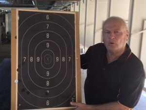 Ross Dossetto prepares for Warwick Pistol Club February Open Shoot