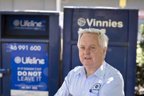 St Vincent de Paul Society Toowoomba diocesan president  John Elich is frustrated over reports of people stealing from charity bins.