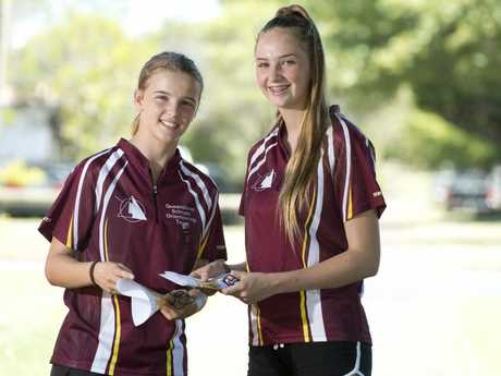Sisters Julia (left) and Laurel Gannon will represent Australia in orienteering.