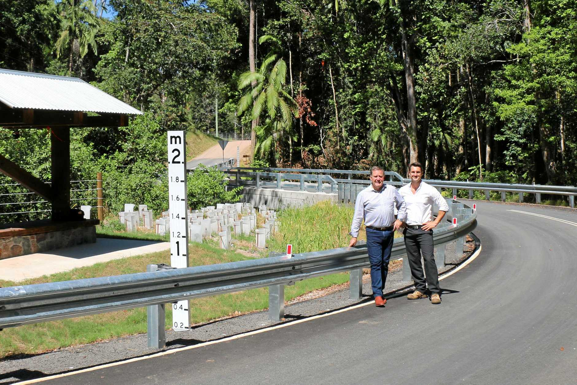 OPEN: Cr Greg Rogerson with project officer Greg Hill.
