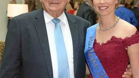 BIG EVENT: Maclean Show Society president Brian Ferrie with Maclean Showgirl Kristi Lawrence.