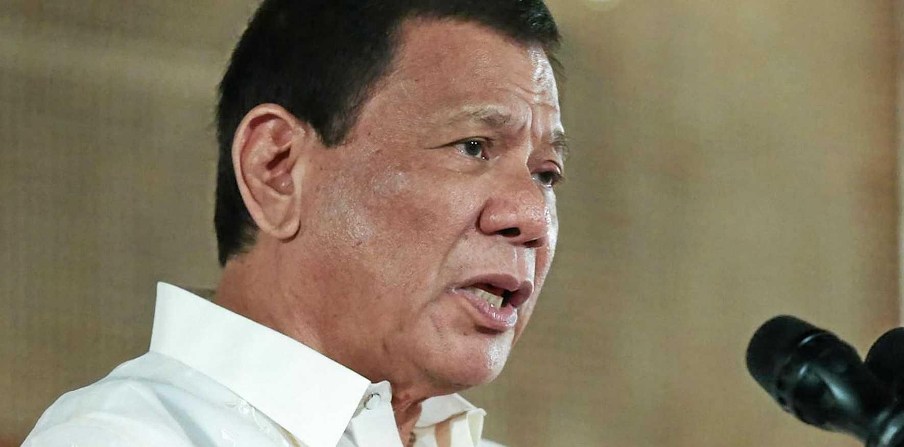 Filipino President Rodrigo Duterte.
