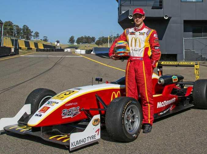 RISING STAR: Toowoomba driver Cameron Shields.