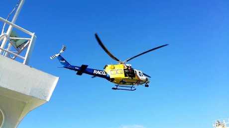 RACQ LifeFlight Rescue chopper.