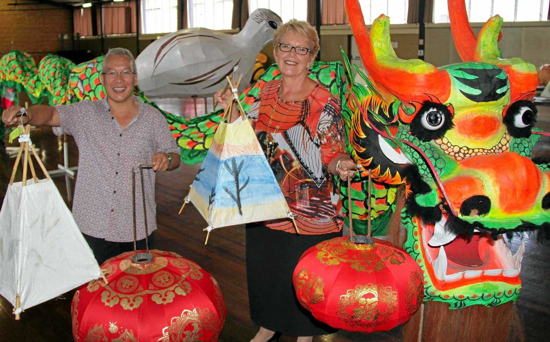 LIGHT UP: Bundaberg Regional Council has a range of large lanterns they need adult volunteers to carry.
