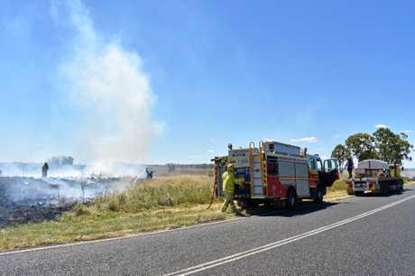 GRASS FIRE: Local crews are battling a blaze between Dalby and Kaimkillenbun.
