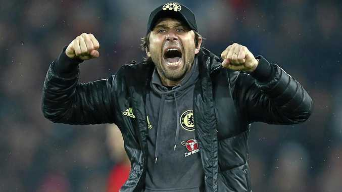 Not to be crossed ... Chelsea's manager Antonio Conte