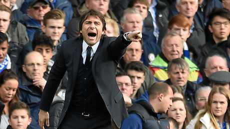 Antonio Conte during his team's match against Arsenal IN February