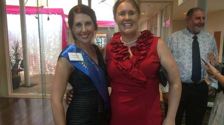 PROUD LEGACY: Current Grafton Showgirl Tammy Connor with previous winner Maddy McDonald.