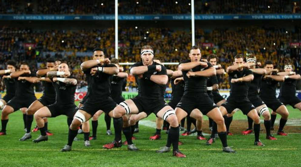 All Blacks performing the Haka. Photo: NewsCorp