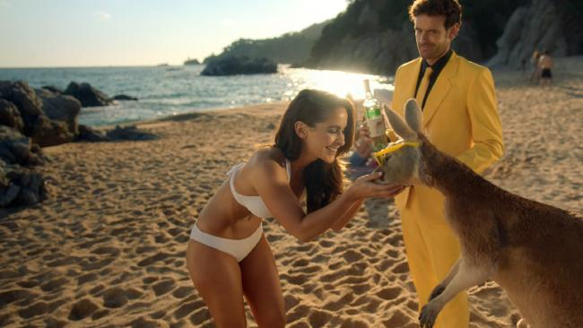 Ellie Gonsalves made her cameo appearance in a 30-second advertisement during the Super Bowl. Picture: Supplied