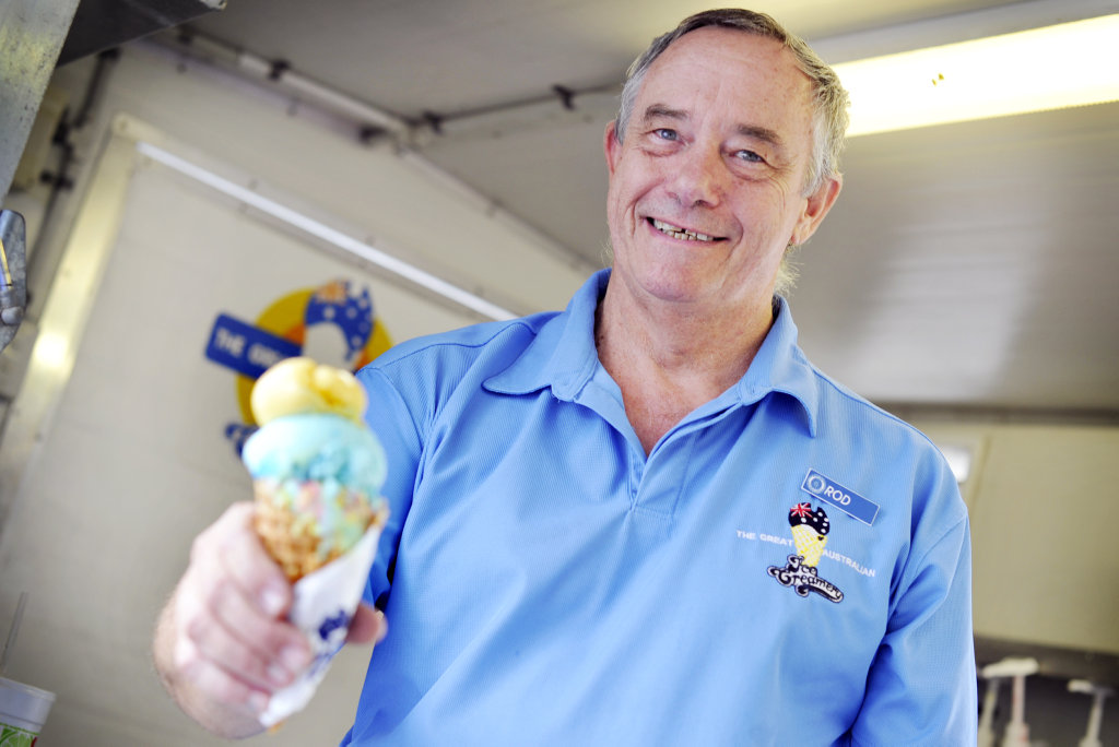 SCOOPING SUCCESS: Great Australian Ice Creamery owner Rod Kamholtz will be one of the 50 plus stall holders appearing at Saturday's Beach.Arts.Music (BAM) at Tannum Sands. Photo Brenda Strong/The Observer