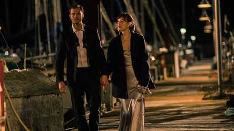 FOR REVIEW AND PREVIEW PURPOSES ONLY. Jamie Dornan and Dakota Johnson in a scene from the movie Fifty Shades Darker. Supplied by Universal Pictures.