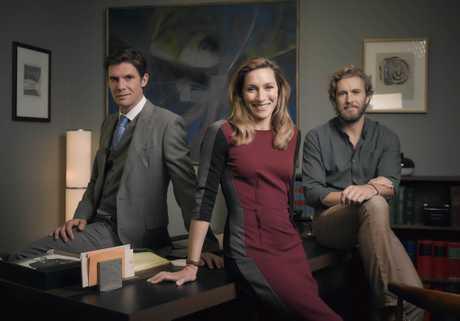 Toby Schmitz, Claudia Karvan and Brett Tucker star in the TV series Newton's Law.