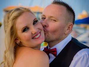Car crash survivor weds her carer
