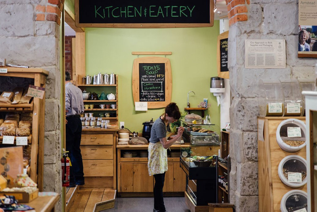 The Kitchen at Taste Nature. They cook deliciously healthy food for their Eatery café in the kitchen at Taste Nature at 131 High St, plus a range of jams, relishes and sauces which are for sale in the Grocery Store.
