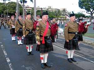 Military pipe band cuts a dash