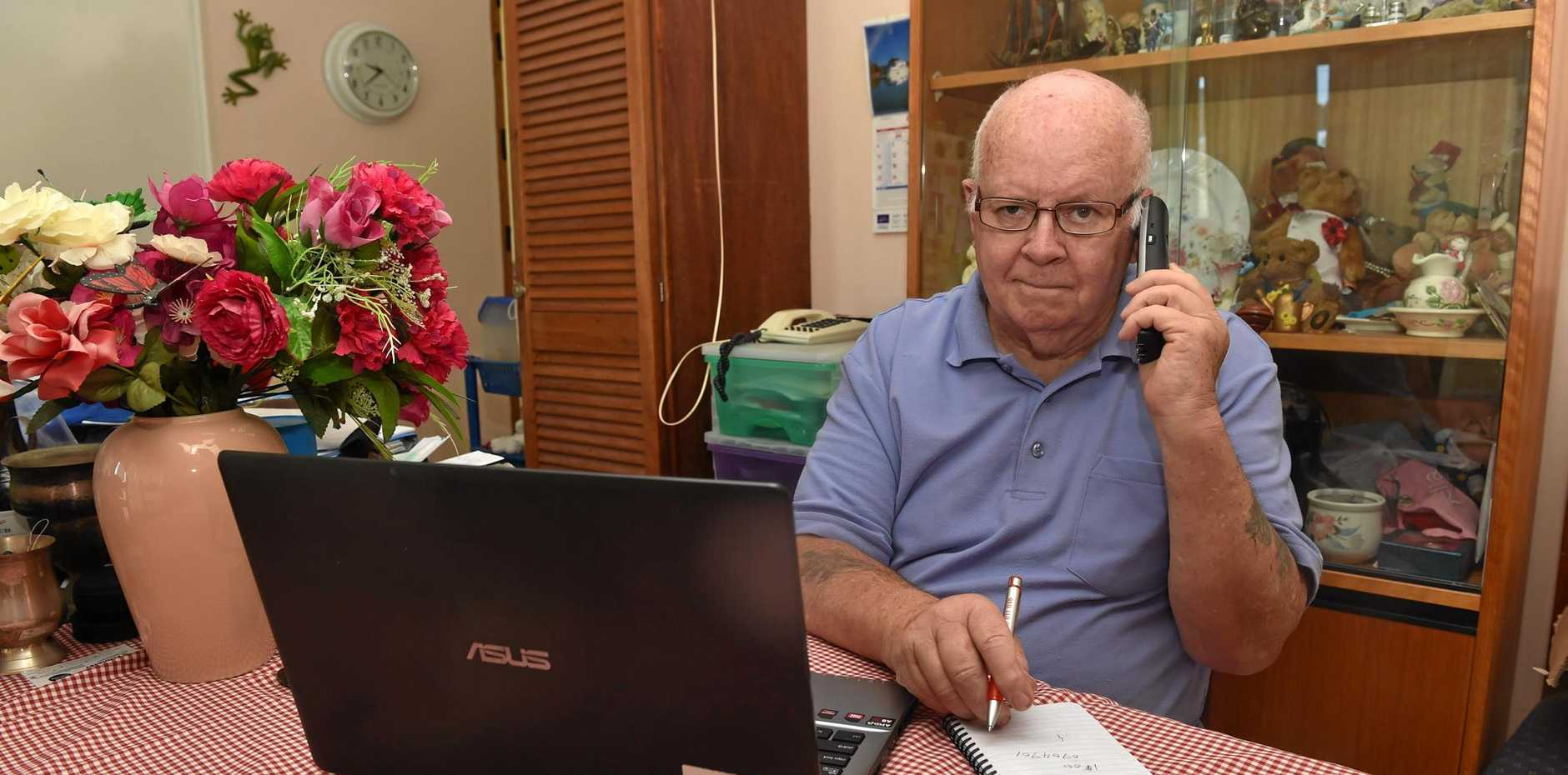 SCAMMED: Jim Shaw has lost thousands to a scammer claiming to be from the NBN.