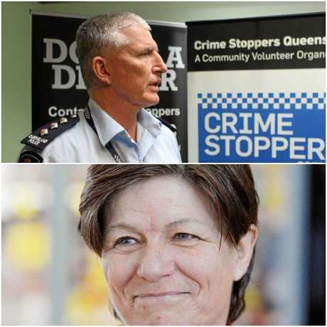 Mackay police Inspector Ian Haughton (top) says police fear for the safety of North Mackay's Diane Smedley (bottom), who was declared missing on Tuesday.