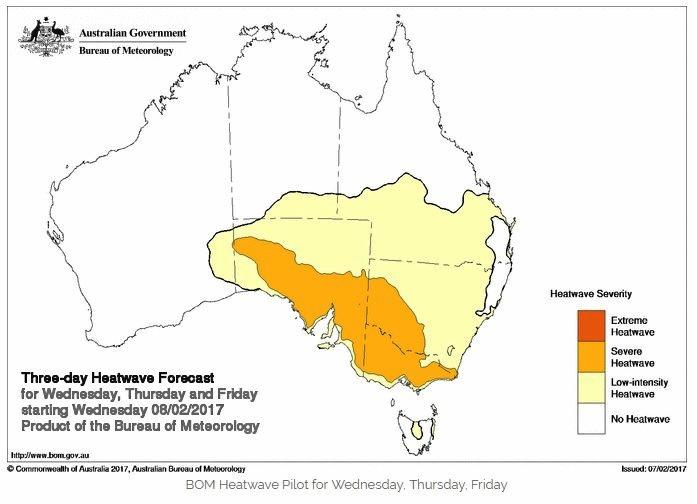 The extreme temperatures are expected to begin in South Australia before making their way to the East Coast.