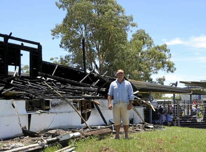 Dalby & Northern Downs Jockey Club president Bart Turner in front of the former Bunya Park grandstand.