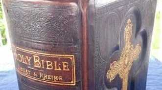 Douay and Rheims Holy Bible, circa 1883 is for sale on Gumtree for $900 negotiable.