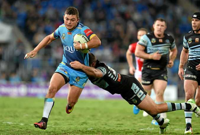Ash Taylor in action for the Gold Coast Titans last year.